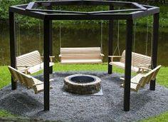 Fire Pit Swing Set Design