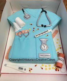 Nurse's scrubs cake