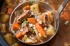 This ultra comforting beef barley soup recipe is made easy in the slow cooker, which makes for incredibly tender beef and vegetables with perfectly textured barley!