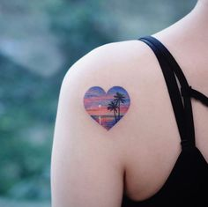 60 Tiny Tattoos That Demand Your Attention - Straight Blasted Palm Tattoos, Mini Tattoos, Seashell Tattoos, Sunset Tattoos, Circle Tattoos, Temporary Tattoos, Tattoos A Color, Subtle Tattoos, Unique Tattoos