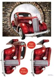 Who wouldn& want to drive this lovely old car. Decoupage the car Birthday Card Pop Up, Pop Up Cards, Men's Cards, 3d Pattern, Patterns, Soap Packaging, 3d Prints, Card Maker, Old Cars