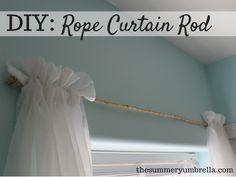 DIY: Rope Curtain Rod