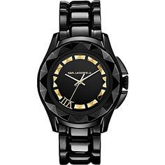 Karl Lagerfeld, who has previously designed watches for such brands as Chanel and Fendi, has just launched his own collection of watches for both men and women. Manufactured by Fossil (who has also just completed purchasing Skagen watches), the watch collection consists of seven different styles and finishes ranging from matte black to gun-metal grey and polished stainless steel.