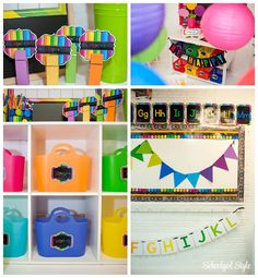 Happy rainbow inspiration: do you remember the room that i d 2nd Grade Classroom, Classroom Design, Classroom Themes, Rainbow Learning, Alphabet Line, S Planner, Schoolgirl Style, Rainbow Theme, Play To Learn