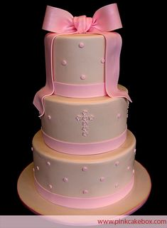 Baptism Cake by Pink Cake Box in Denville, NJ.  More photos at http://blog.pinkcakebox.com/baptism-cake-2-2007-10-13.htm  #cakes