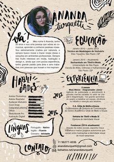 Resumé/Curriculum Vitae on Behance Graphic Design Resume, Cv Design, Graphic Design Posters, Layout Design, Cv Inspiration, Graphic Design Inspiration, Design Curriculum, Curriculum Vitae Template, Logos Retro
