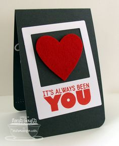 THinkING STAMPS: Great CAS masculine valentine's or anniversary card idea