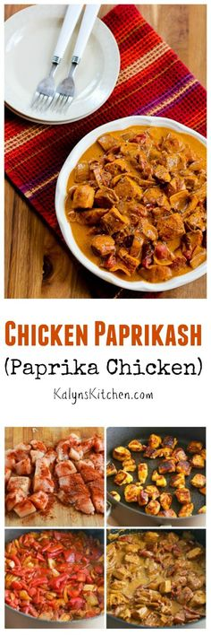 My easier version of Chicken Paprikash (Paprika Chicken) has all the Hungarian flavors that make this dish so good! Best Low Carb Recipes, Low Carb Chicken Recipes, Turkey Recipes, Dinner Recipes, Cooking Recipes, Healthy Recipes, Tasty Meals, Dinner Ideas, Chicken Paprikash