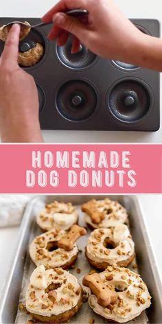 Dog Cookie Recipes, Easy Dog Treat Recipes, Dog Biscuit Recipes, Dog Food Recipes, Easy Dog Cake Recipe, Banana Dog Treat Recipe, Puppy Treats, Diy Dog Treats, Healthy Dog Treats