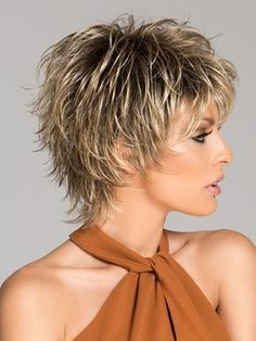 Choppy, layered, and tousled to create a sophisticated but edgy style