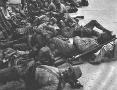 japanese soldiers sleeping after the conquest of nanchang (1939)