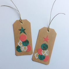 Christmas Gift Tags Christmas Tree Tags by CoasttoCoasterBurl