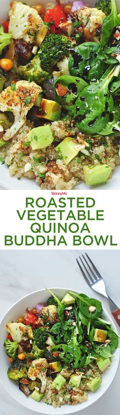 What can possibly be better than a yummy protein-packed Roasted Vegetable Quinoa Buddha Bowl?
