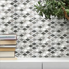 Our new ALUMINA collection! Lightweight #metallic #tiles in a brushed finish. by giotile