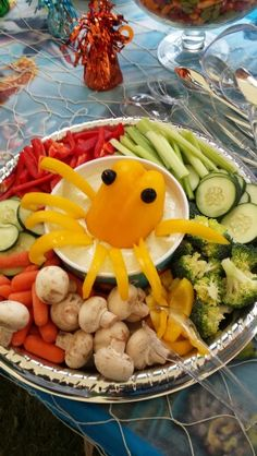 Under the Sea Creature Octopus Dip, Easy Fun Party Dip, Veggie tray, Baby Shower