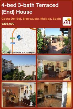 4-bed 3-bath Terraced (End) House in Costa Del Sol, Sierrezuela, Málaga, Spain ►€305,000 #PropertyForSaleInSpain