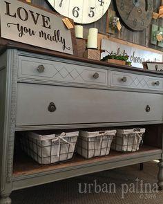 Urban Patina: Repurposed Dresser in Annie Sloan Chalk Paint French Linen