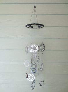 Wind Chimes, Bicycle Accessories, Kinetic Art, Recycled Bicycle Art, Bicycle Jewelry, Garden Art