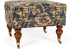 Floral Ottoman-I think I'd like it better if the colors had more pop though