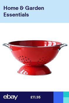 13x23x23 cm Colander Red Enamel