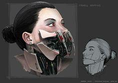 Cyborg Vampire concept art by Andrea Susini
