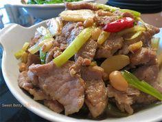 蒜香味噌炒豬肉片