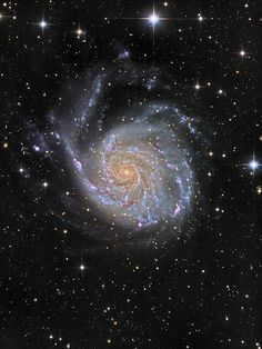 The Pinwheel Galaxy and supernova SN by Oleg Bryzgalov Why do many galaxies appear as spirals? A striking example is shown above, whose relatively close distance of about 27 million. Interstellar, Cosmos, Pinwheel Galaxy, Iphone 5s Wallpaper, Iphone 4s, Iphone Wallpapers, Hubble Pictures, Spiral Galaxy, Space Photos