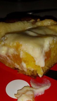 "Easy Peaches and Cream cake - """" @allthecooks #recipe"