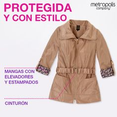 ¡Ni en la lluvia se pierde el estilo! Incorpora una gabardina como parte de tu outfit.
