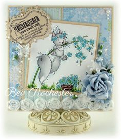 Fluffy Hanging in There [SZWS129] - $8.00 : Whimsy Stamps