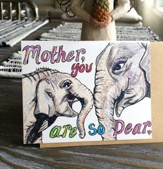 Adorable Uniquely Hand Drawn Mother and Baby by EllieGreets