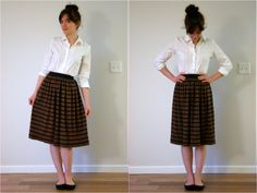 Adventures in Dressmaking: Three great skirts for fall, made without a pattern