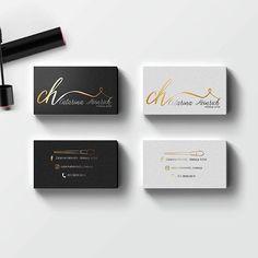 Eye catching 3d black damask gold lips makeup artist business cards cartes de visita para a id da catarina heinrich makeup artist business card makerbusiness card designbusiness reheart Images