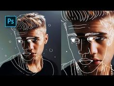How to Create Outline Portrait Effect in Photoshop – Tutorials – Best presets for lightroom How to Create Outline Portrait Effect in Photoshop – Tutorials – Best presets for lightroom,Design Tools How. Photoshop Design, Tuto Photoshop Cs6, Actions Photoshop, Photoshop Tutorials Youtube, Photoshop Brushes, Adobe Photoshop, Video Tutorials, Photoshop Website, Photoshop Face