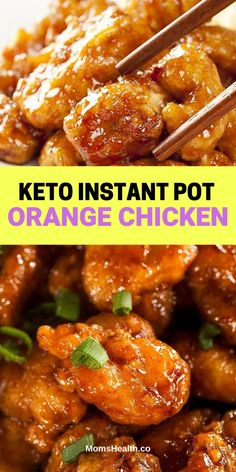 Keto Instant Pot Orange Chicken – Under 30 Min Low-Carb Meal. Keto Instant Pot Orange Chicken – This tangy sweet and flavorful low carb orange chicken made in instant pot consists of tender and juicy chickens with that delicious sauce… Continue Reading → Ketogenic Recipes, Low Carb Recipes, Diet Recipes, Cooking Recipes, Healthy Recipes, Ketogenic Diet, Low Carb Meals, Crockpot Recipes, Radish Recipes