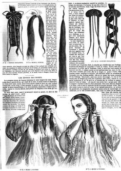 1862.  La Mode illustrée: journal de la famille.  Styling and inserting a switch.