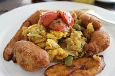 Jamaican breakast ackee and saltfish at Ritz Carlton, Jamaica