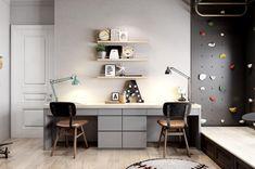 Office Interior Design, Office Interiors, Home Interior, Office Designs, Study Room Design, Kids Room Design, Study Space, Room Kids, Home Office Furniture
