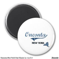 Oneonta New York City Classic 2 Inch Round Magnet