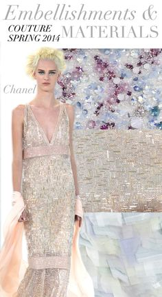 Trend Council:  Couture Spring 2014 - Embellishments & Materials, Chanel