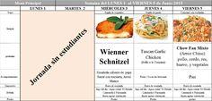 Menú Principal Comedor Escolar del 1 al 5 de Junio de 2015