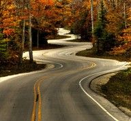 this road is in Door County, WI very beautiful in the fall!
