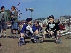 Bill Forsyth (on the right) at Aboyne games in 1955 ; 8 years before his 1st dance world champion title.