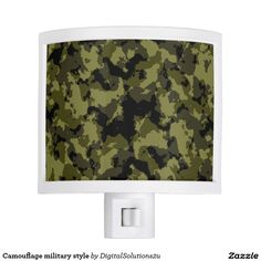 Camouflage military style night light