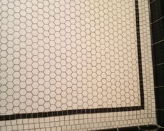 high contrast, and difference of shape in the white tiles for added dimension