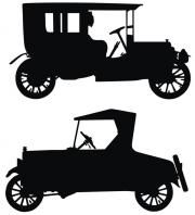 Old car vector silhouettes - free SVG!