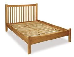 Ametis HEREFORD Oak 4'6ft Double Bed Frame
