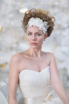 Blusher Hair Ribbon || Wedding Headpiece