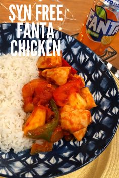 This Slimming World Fanta orange chicken recipe tastes just like sweet and sour from your favourite Chinese takeaway! It's also Syn free and best served with rice or noodles. Sweet Sour Chicken, Orange Chicken, Coke Chicken, Fried Chicken, Slimming World Fanta Chicken, Orange Recipes, New Recipes, Chicken Lunch Recipes, Chinese Takeaway