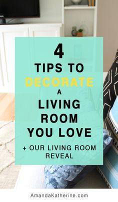 Decorating your home doesn't have to be complicated or overwhelming. I'm sharing 4 key tips to decorating a living room (or any room!) that will keep you focused and on the path to creating a room you love. I put these 4 tips to good use when I decorated our living room and I can't believe how well it turned out! Click to learn the 4 key tips and tour our new living room